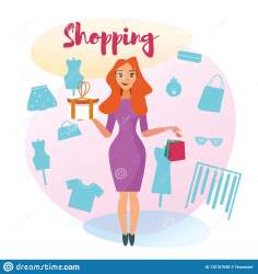 The Concept Girlfriends Shopping In The Style Shop Stock Vector Illustration of customer collection: 132107648