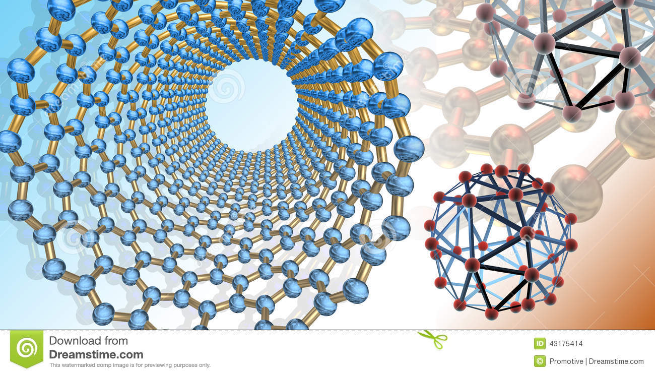 Conceptual Artwork Related To Carbon Nanostructures In The
