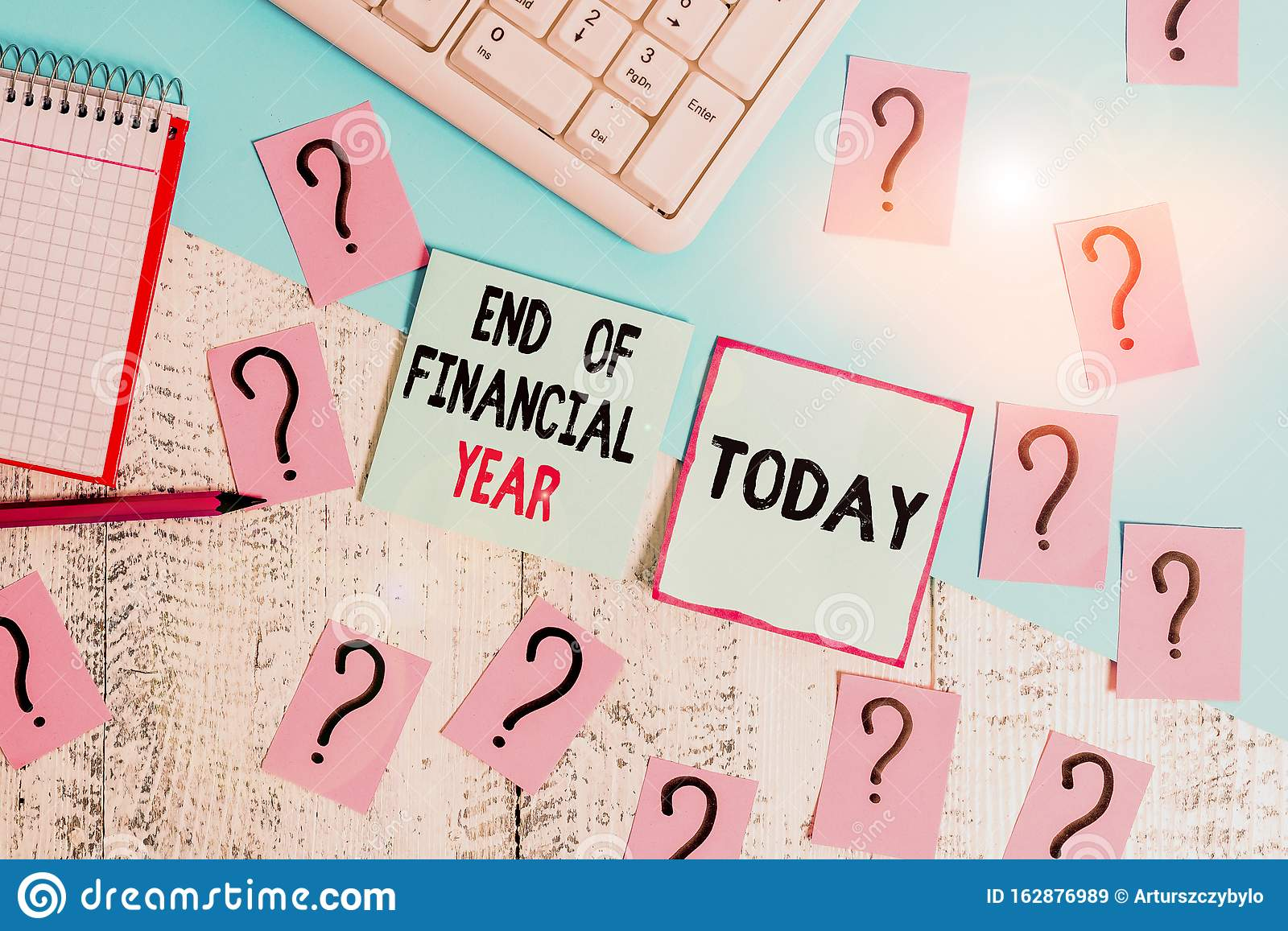 Conceptual Hand Writing Showing End Of Financial Year
