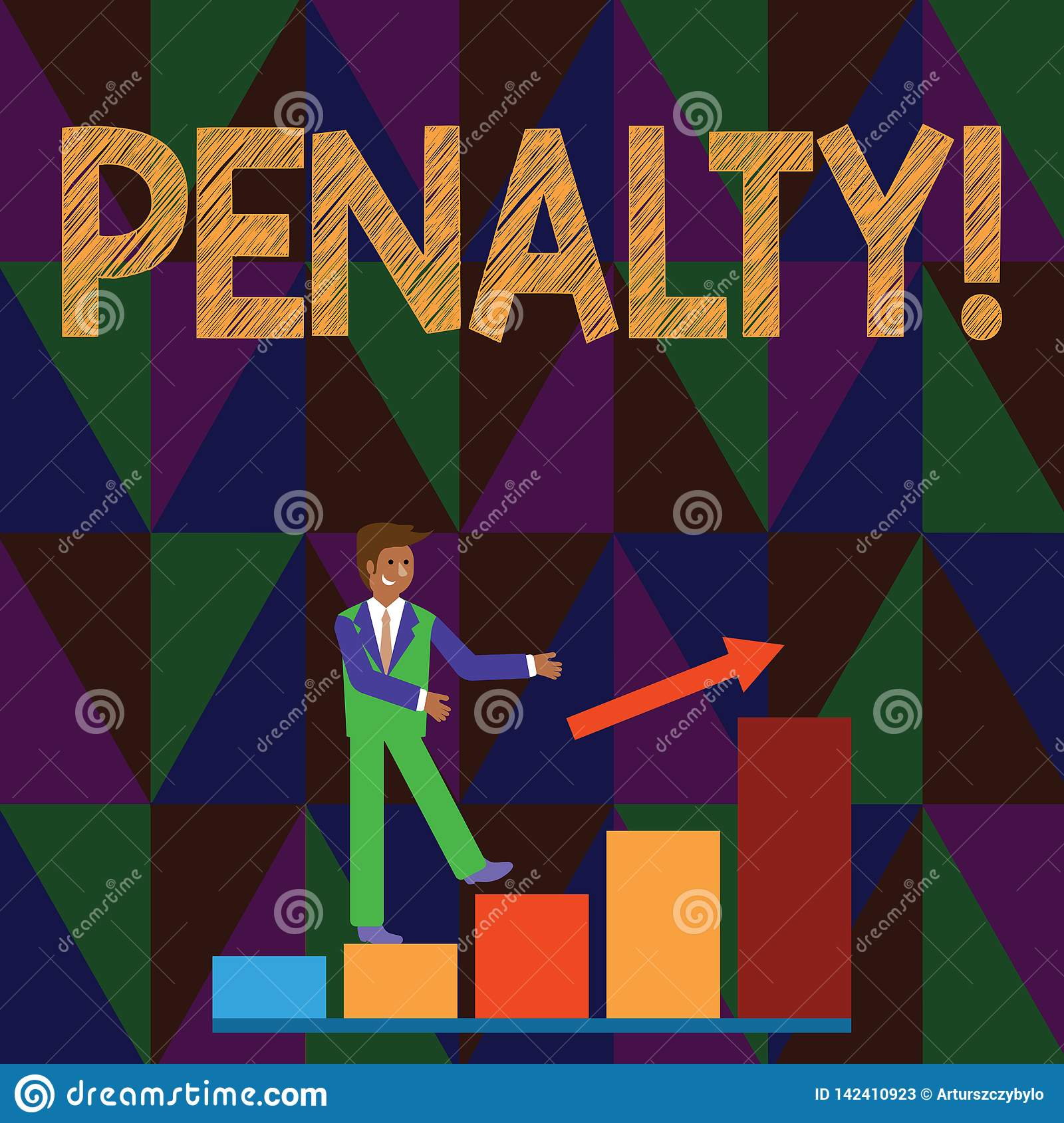 Conceptual Hand Writing Showing Penalty. Business Photo Text Punishment Imposed For Breaking A Law Rule Or Contract Stock Illustration ...