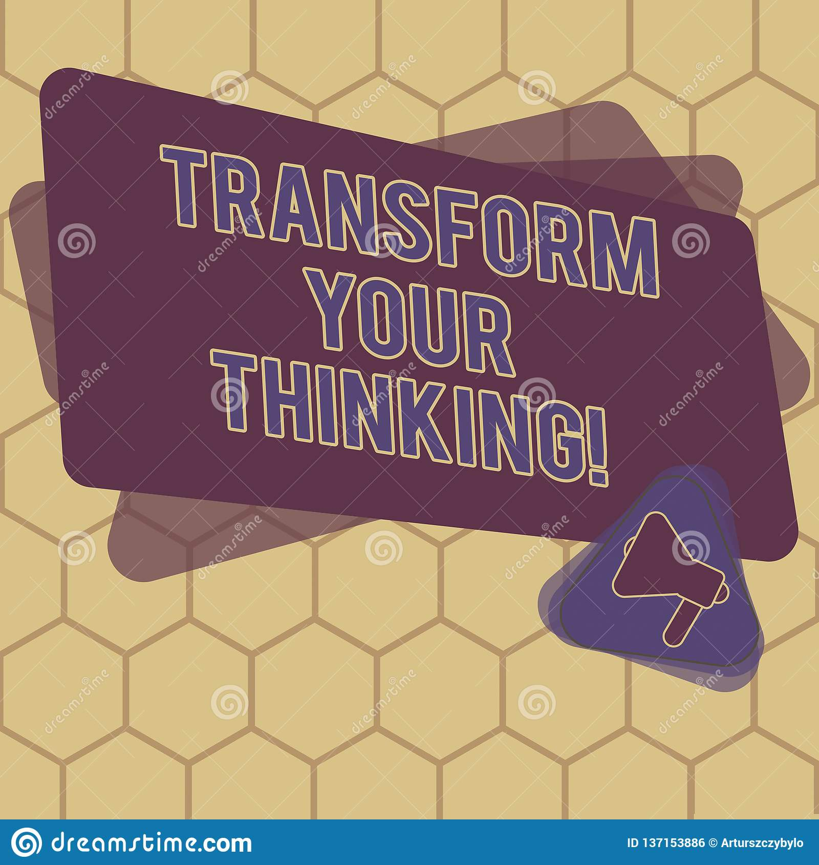 Conceptual Hand Writing Showing Transform Your Thinking
