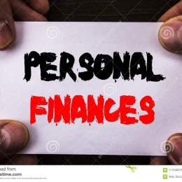 Conceptual Hand Writing Text Showing Personal Finances