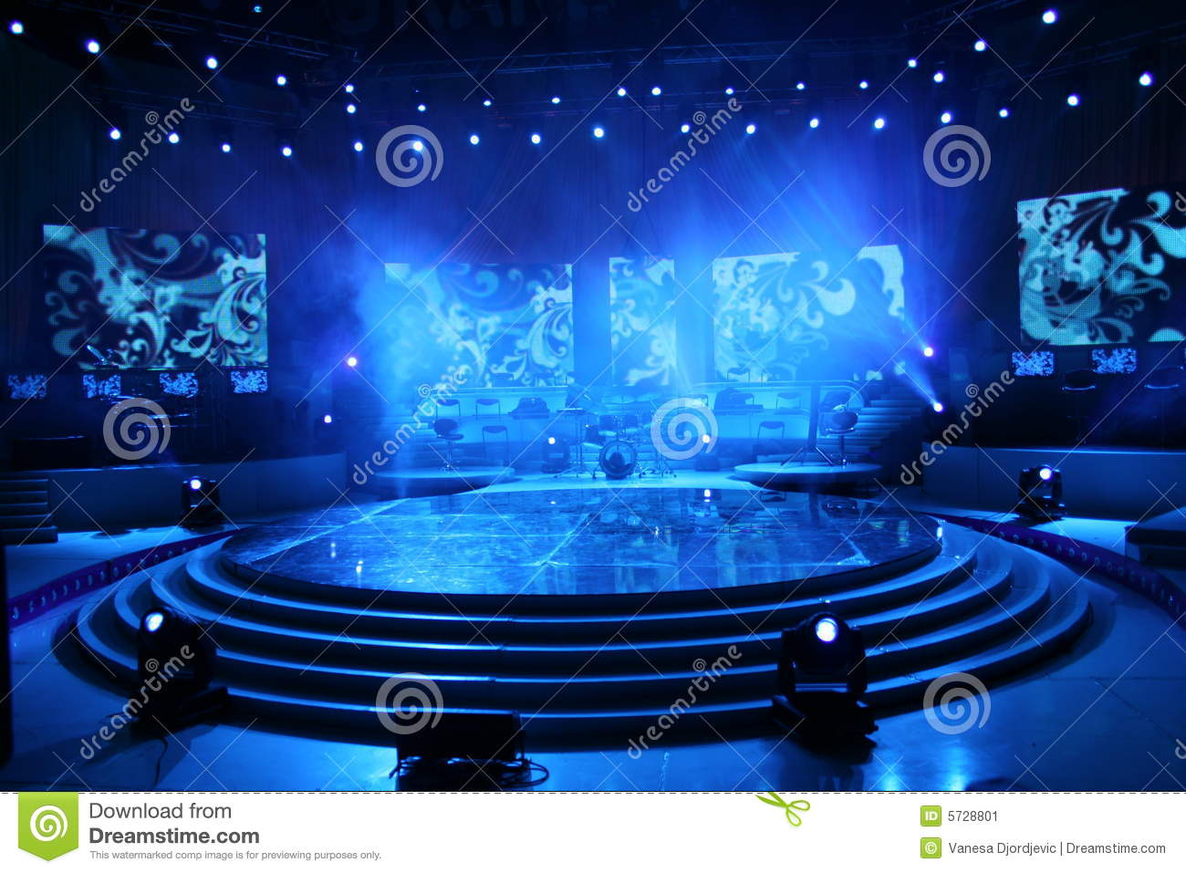 Concert stage stock image Image of singer sing life