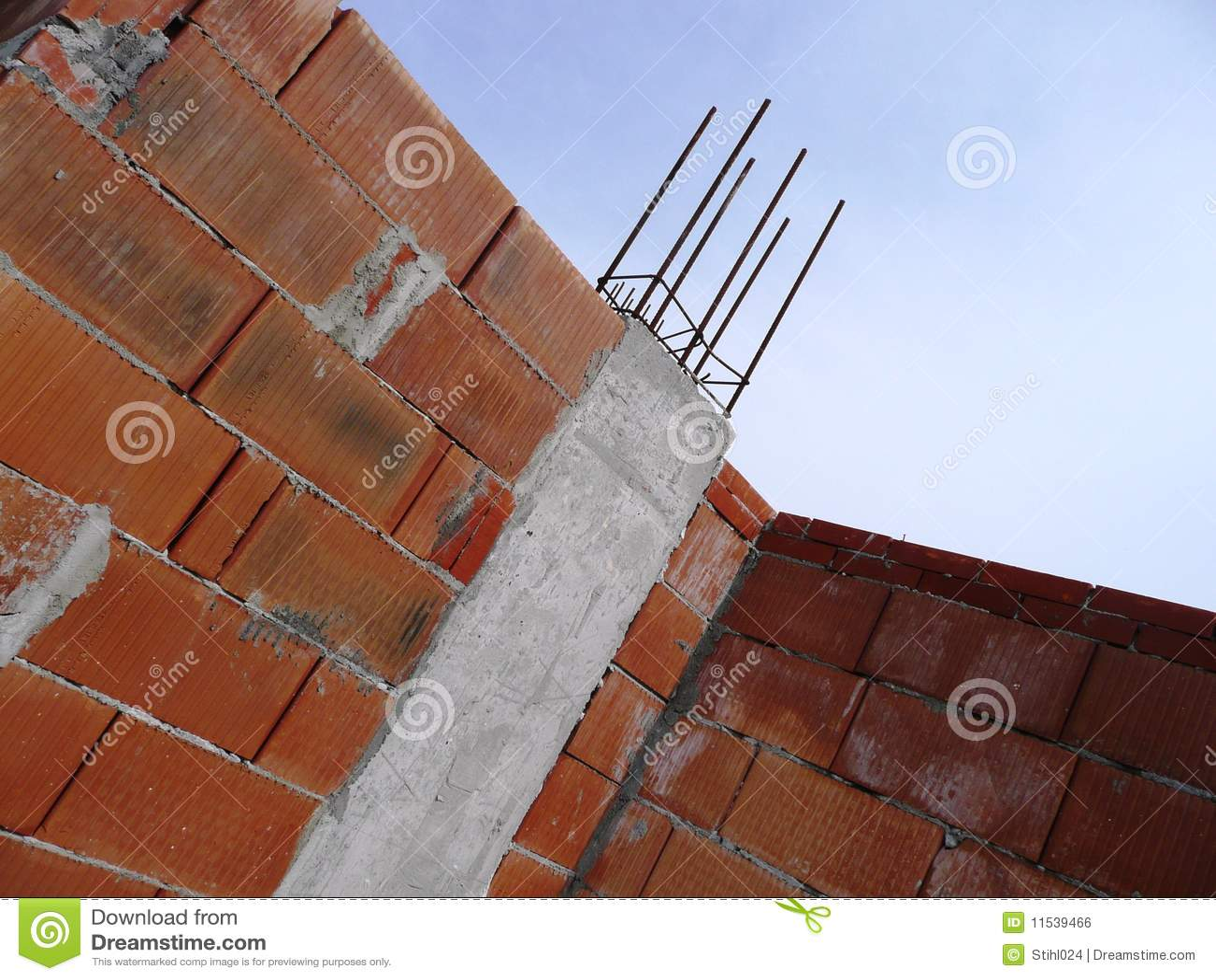 concrete construction site with
