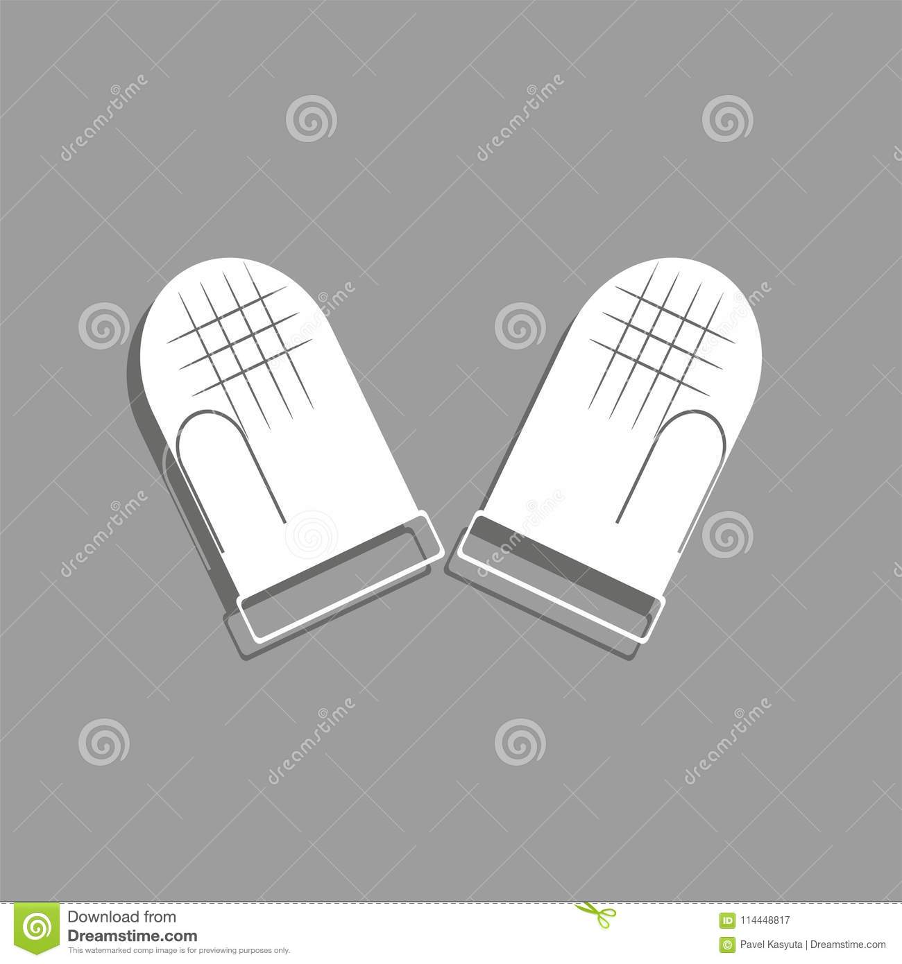 kitchen mittens portable islands for kitchens hot dishes vector icon stock