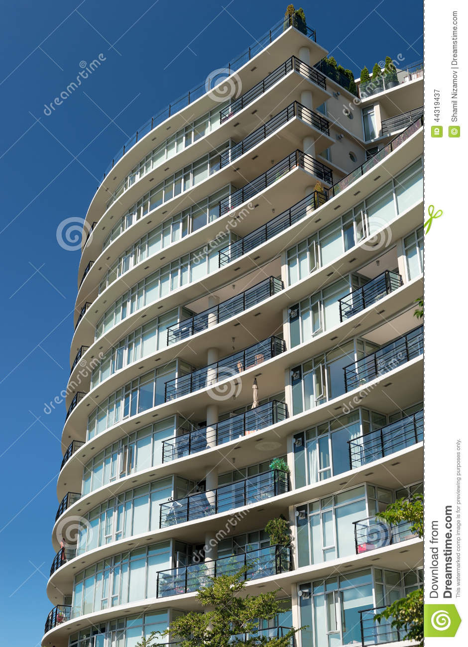 Condominium Or Apartment Building Stock Image  Image