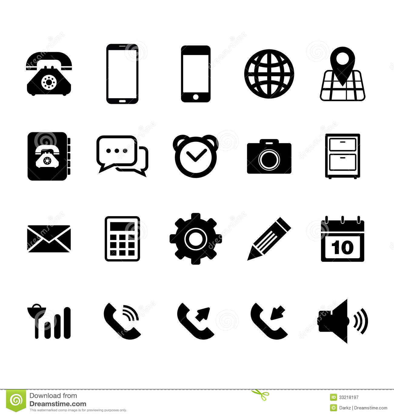 Icone Do Telemovel Fotografia De Stock Royalty Free