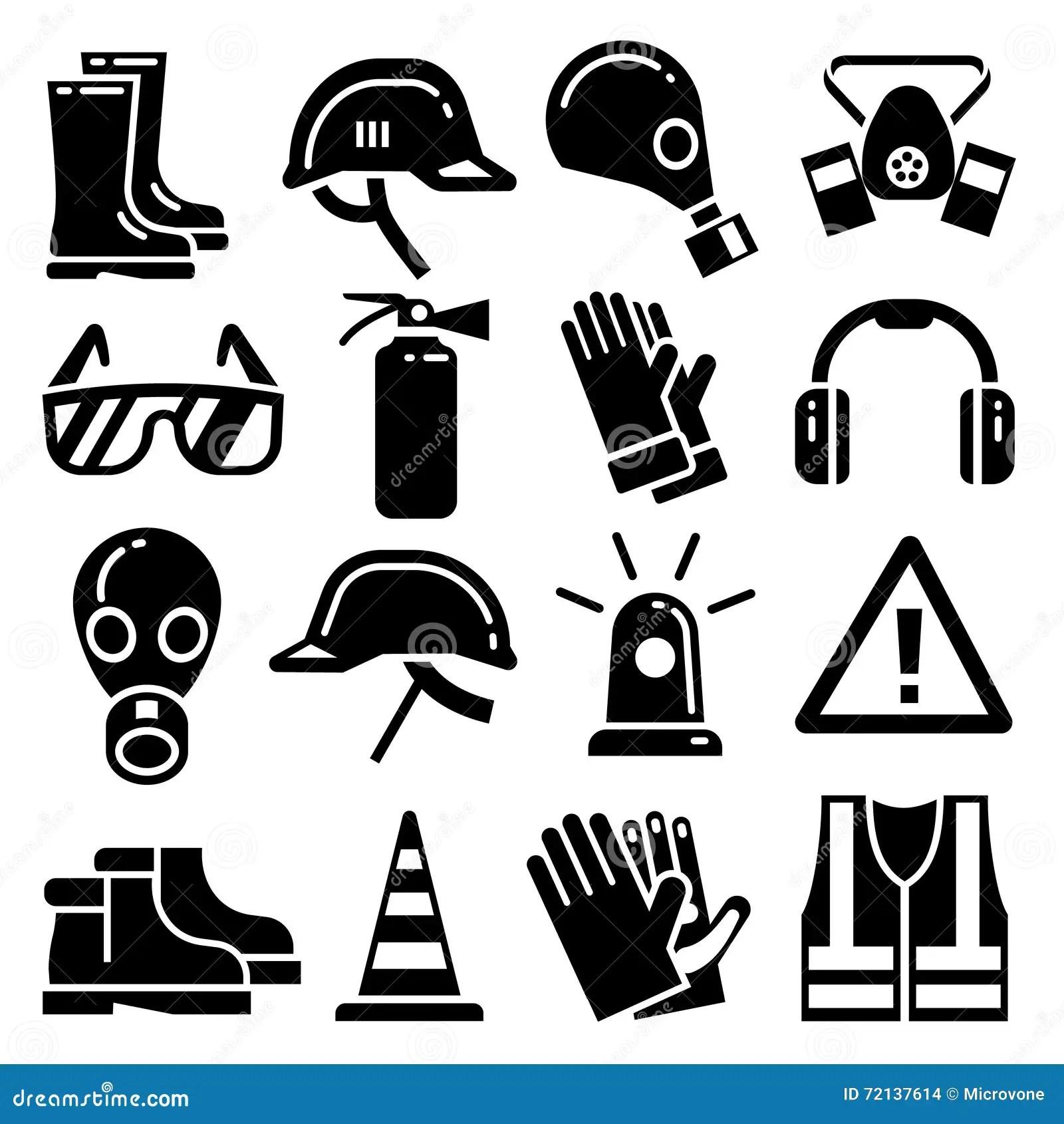 Icones Pessoais Do Vetor Do Equipamento De Protecao