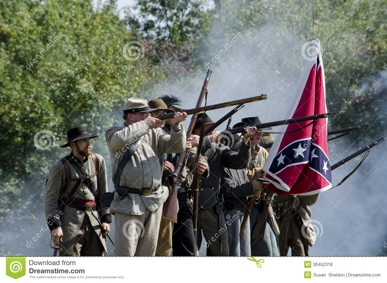 Confederate Sol Rs Fighting Editorial Stock Photo