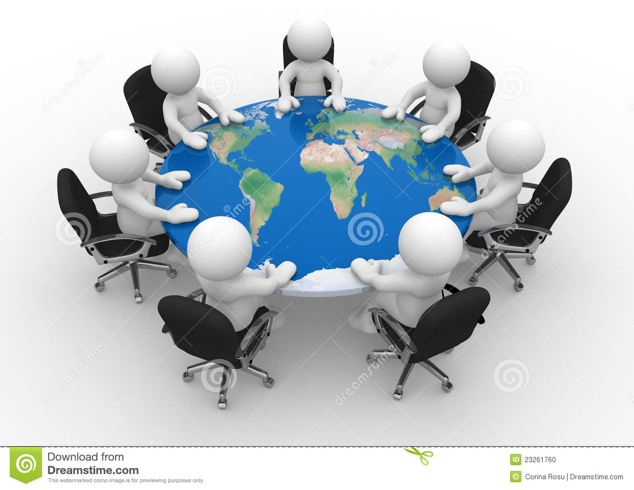 Conference table stock illustration Illustration of