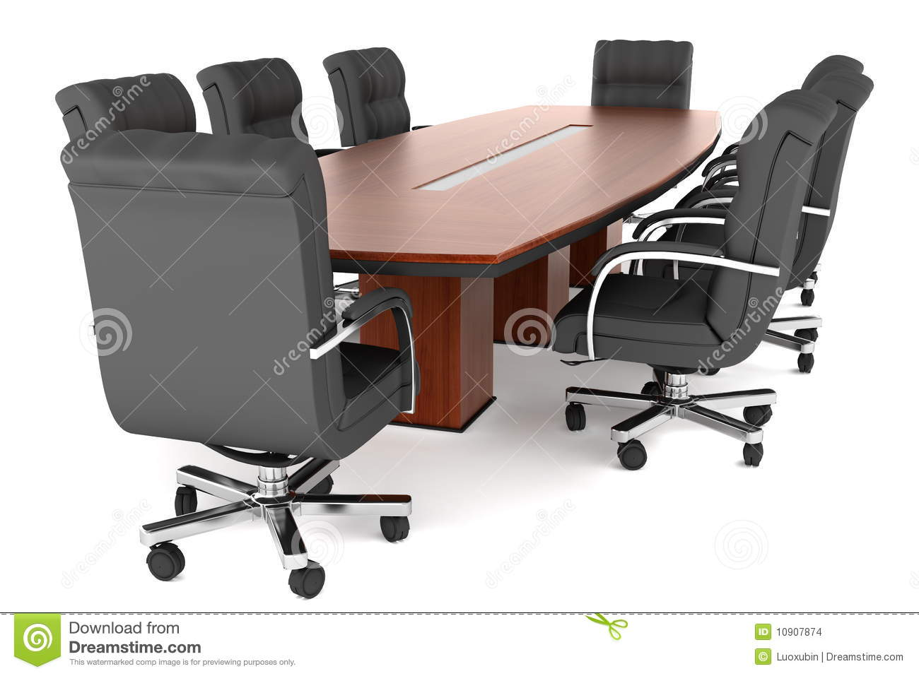 conference tables and chairs revolving wire chair table office stock illustration