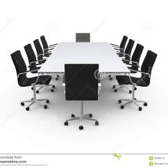 Office Conference Room Chairs Stand Up Chair Table And Stock Illustration Black In Meeting Isolated On White Background