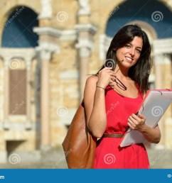 confident female college student [ 1300 x 958 Pixel ]