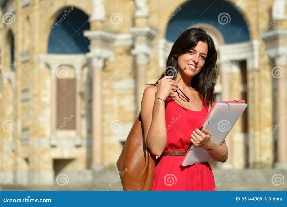 medium resolution of confident female college student