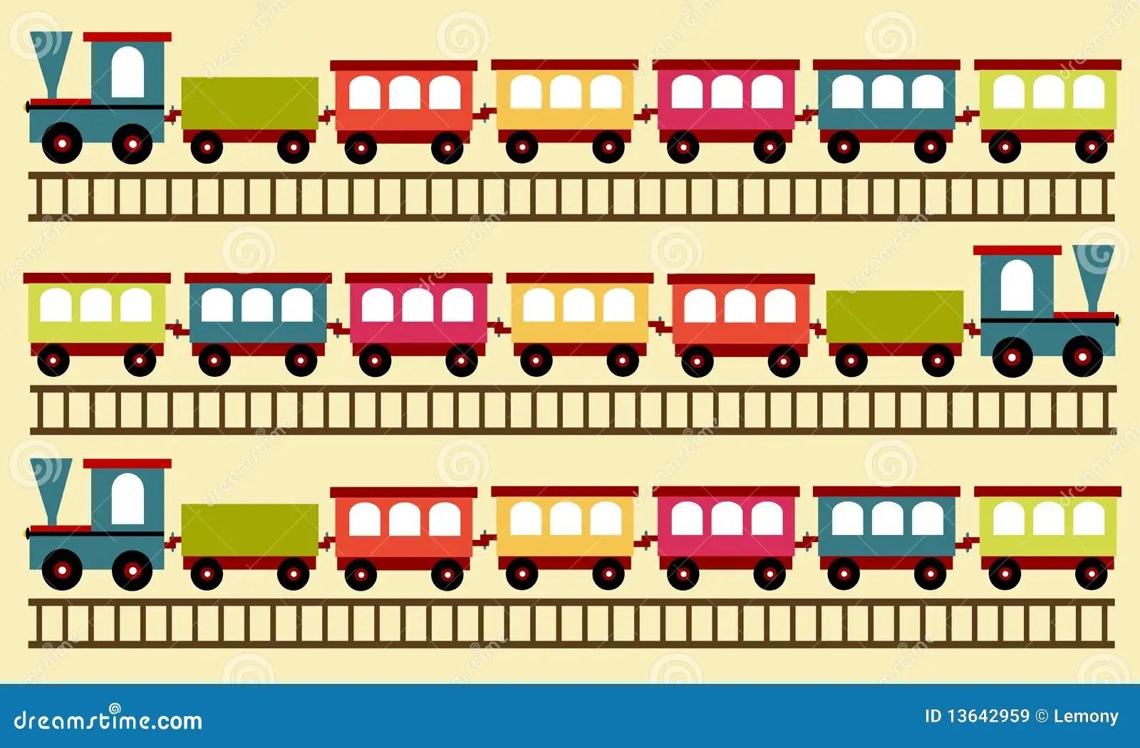 Configuration De Train Papier Peint Illustration De