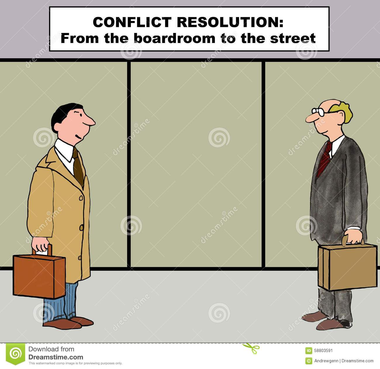 Conflict Resolution Action Plan Stock Photo