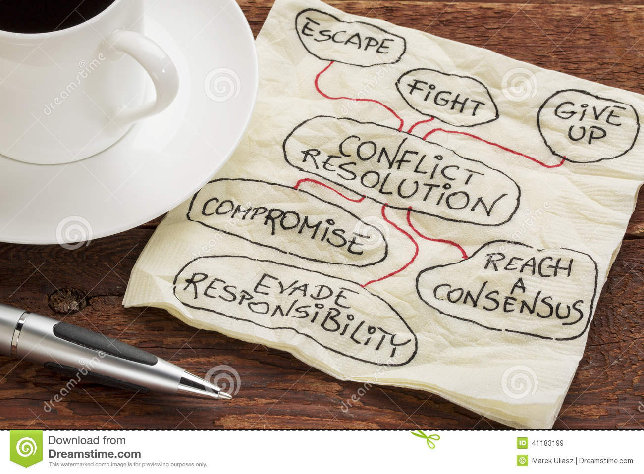 Conflict Resolution Strategies Stock Image