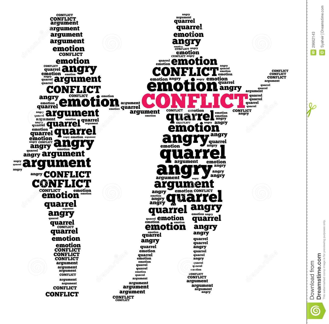 Conflict in word cloud stock illustration. Illustration of