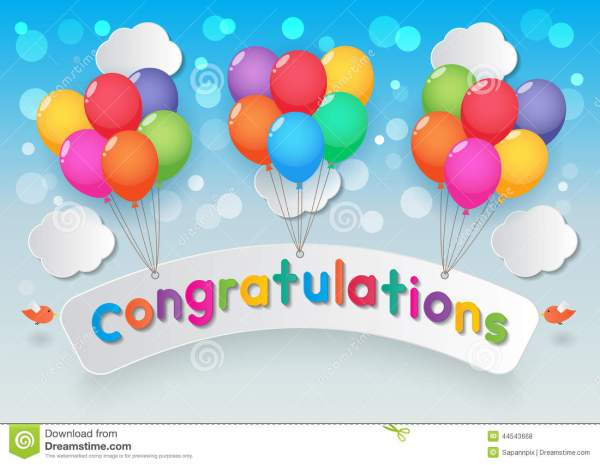 congratulations balloons stock
