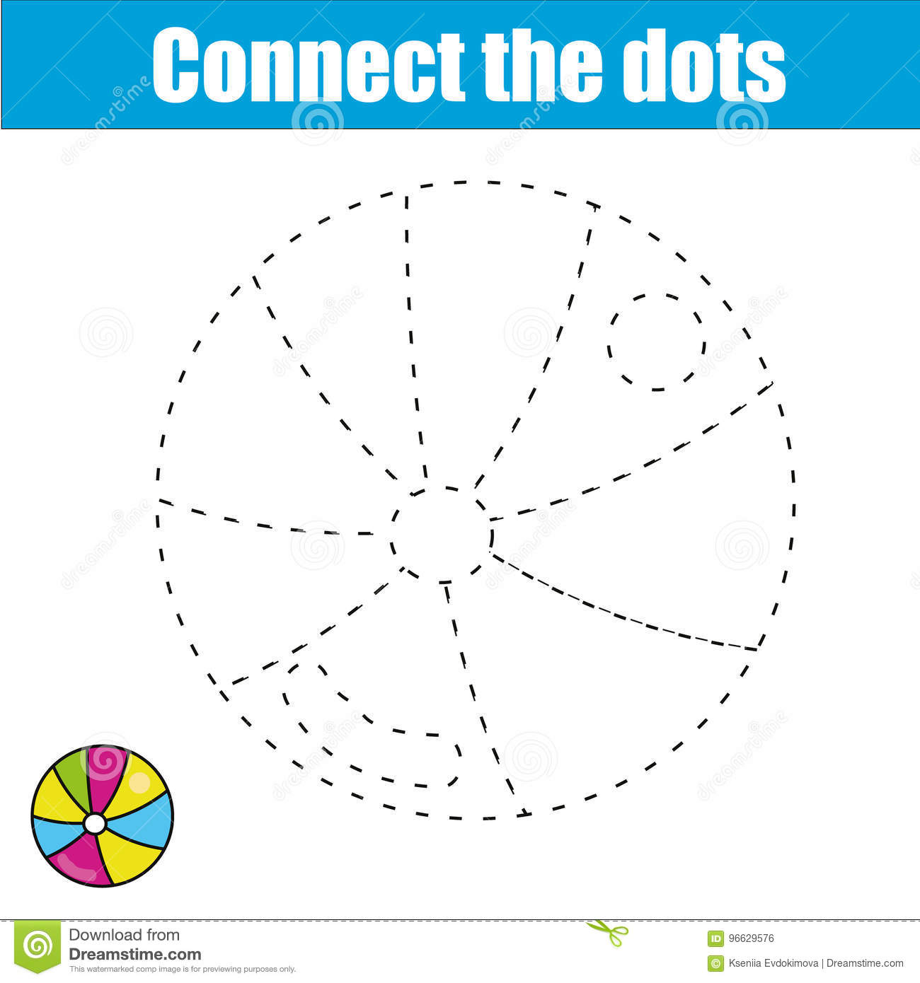 Connect The Dots Children Educational Game Printable