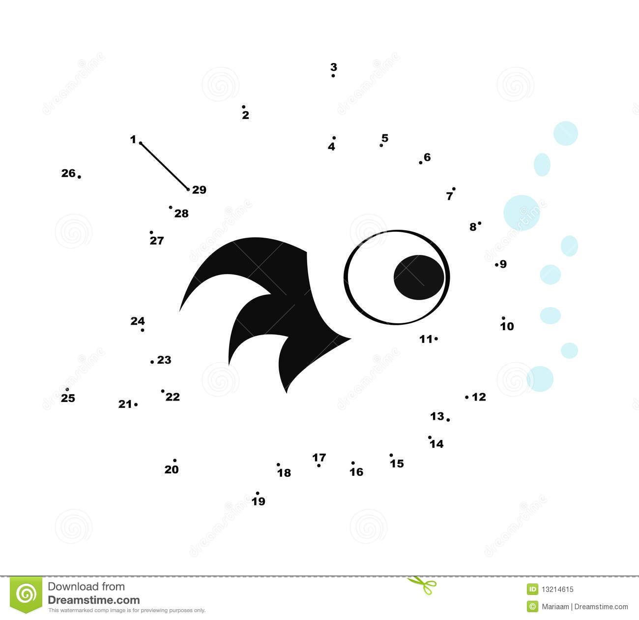 Connect The Dots Coloring Page Stock Vector