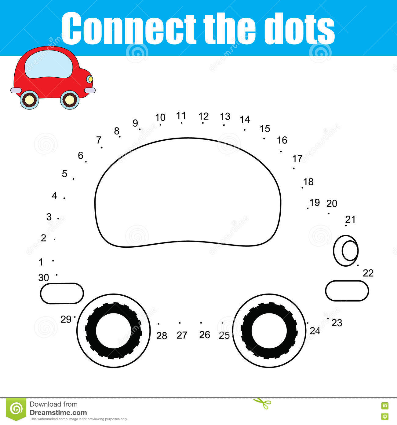 Numbers Game With Transport Vector Illustration