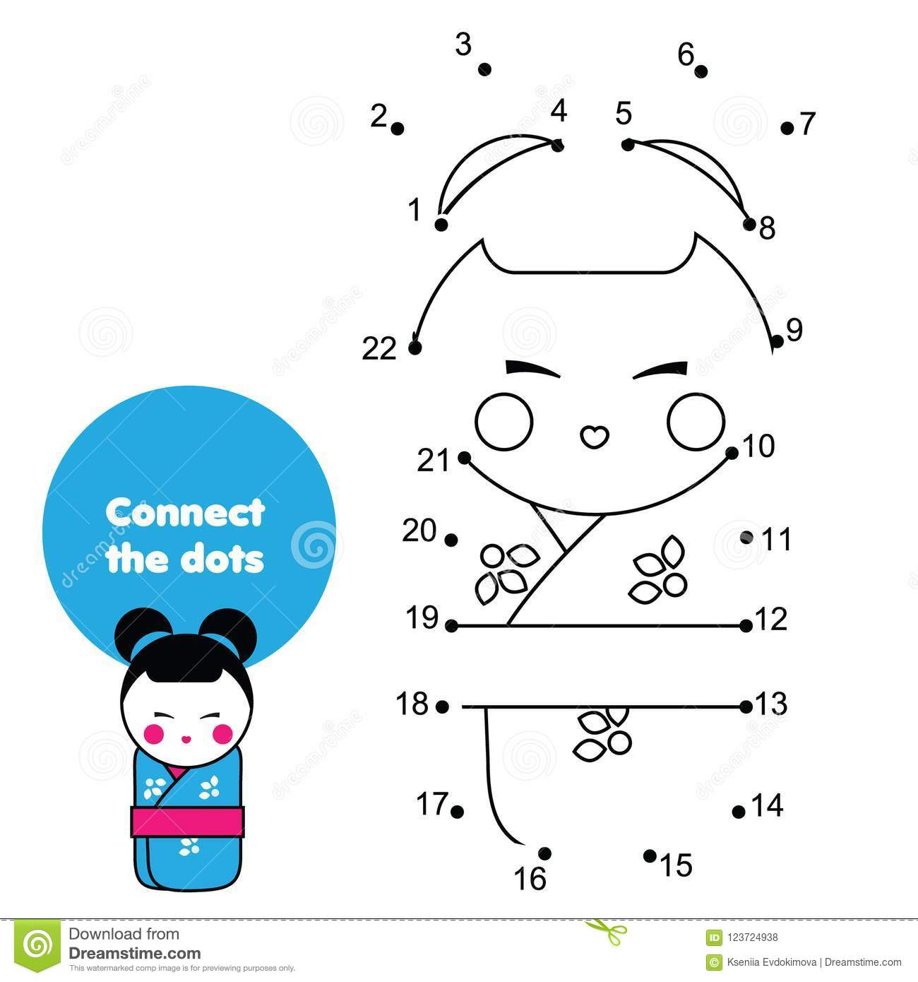 Connect The Dots By Numbers Educational Game For Children