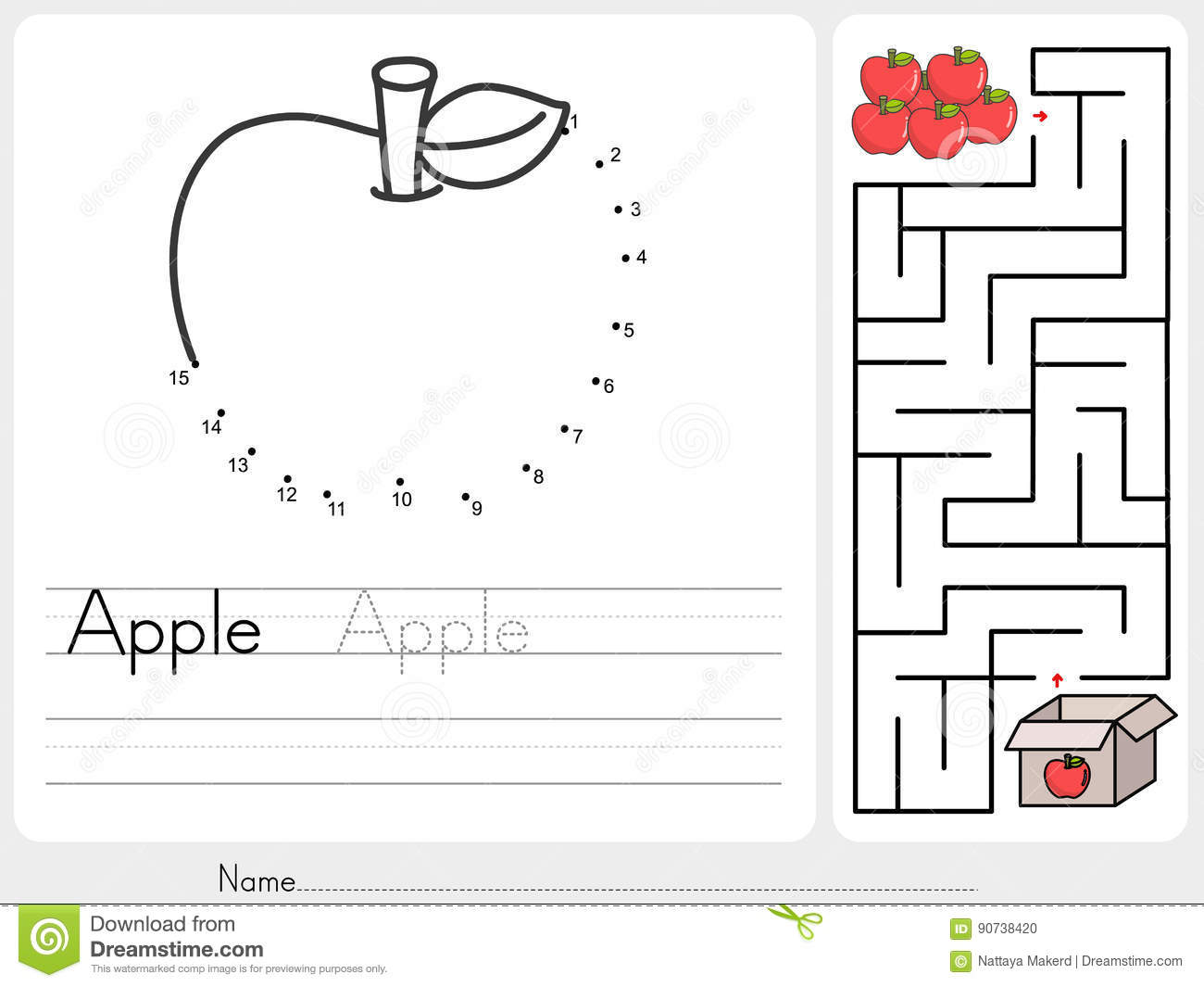 Connect Dots And Pick Apple Box Maze Game