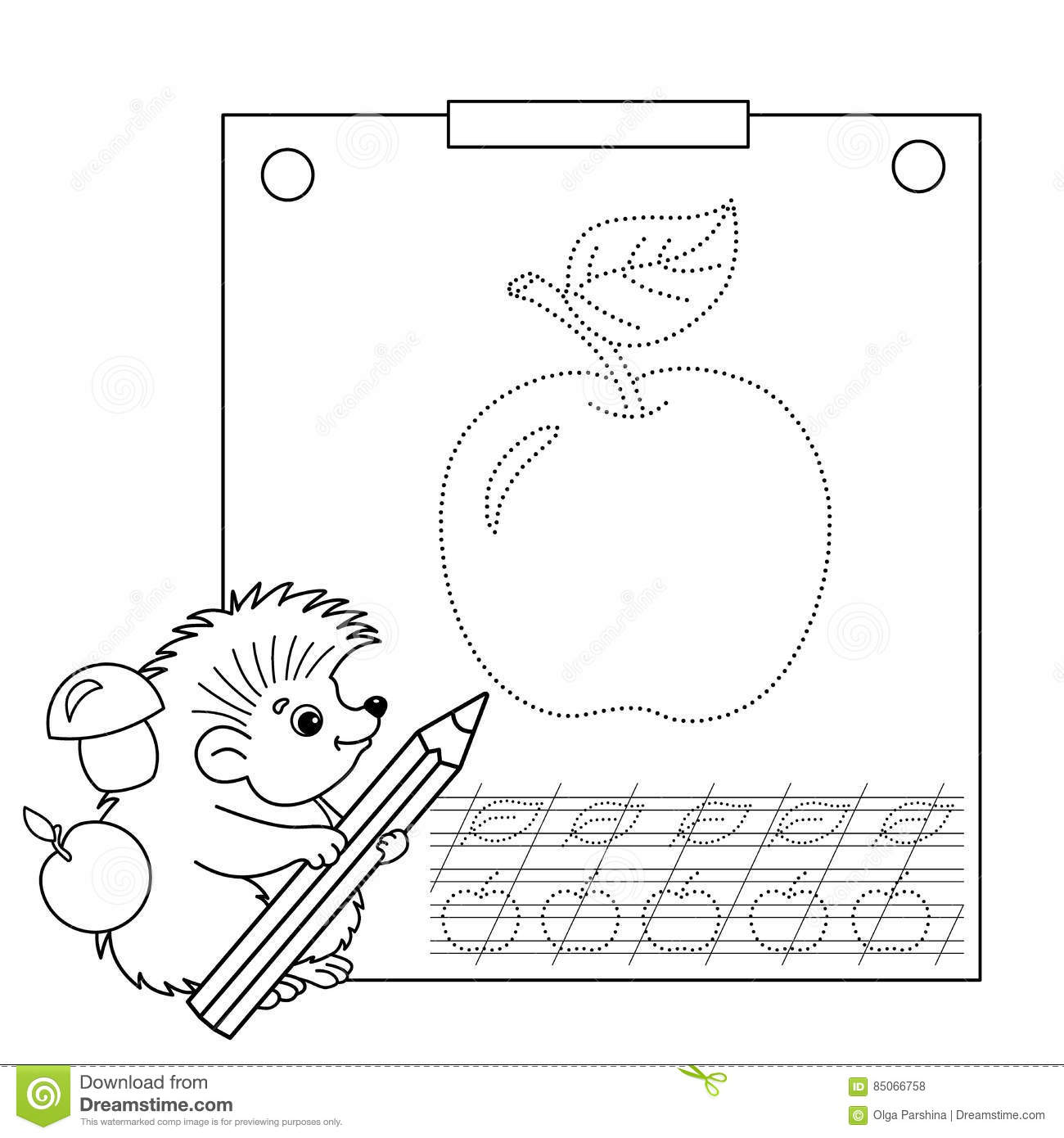 Connect The Dots Picture And Coloring Page Tracing Worksheet Puzzle For Kids Stock Vector