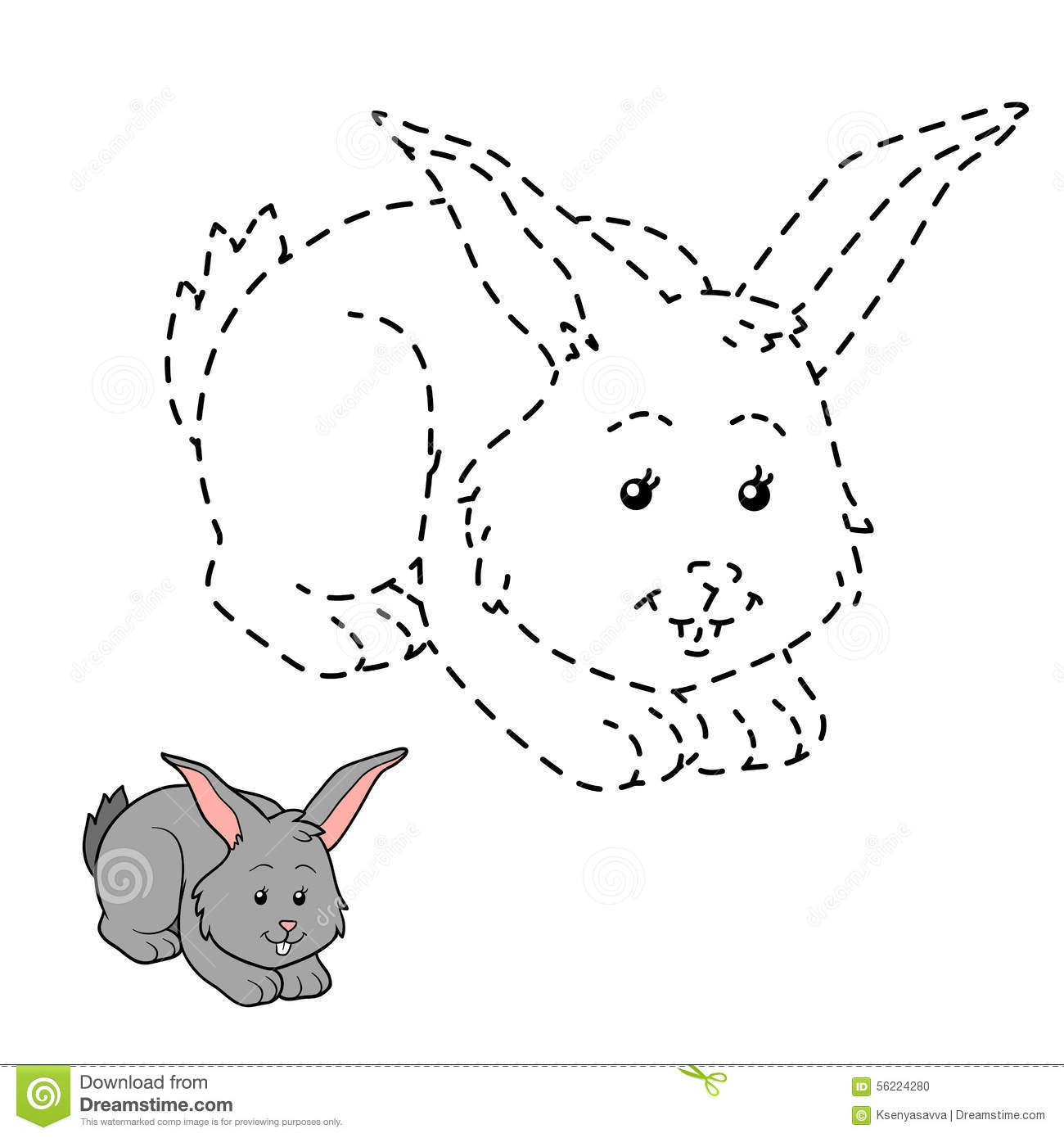 Connect The Dots Rabbit Stock Vector Illustration Of