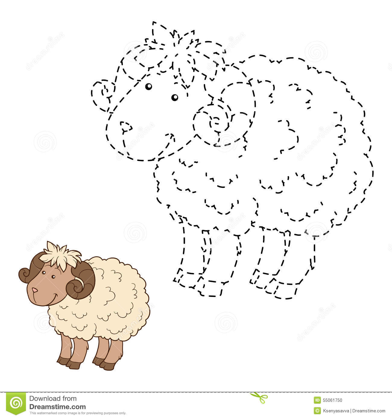 Connect The Dots Sheep Stock Vector Illustration Of