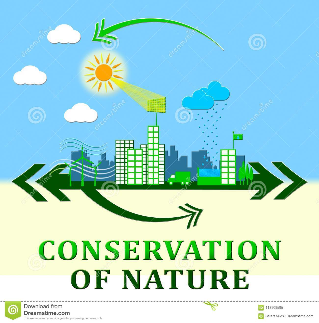 hight resolution of conservation of nature means conserve 3d illustration
