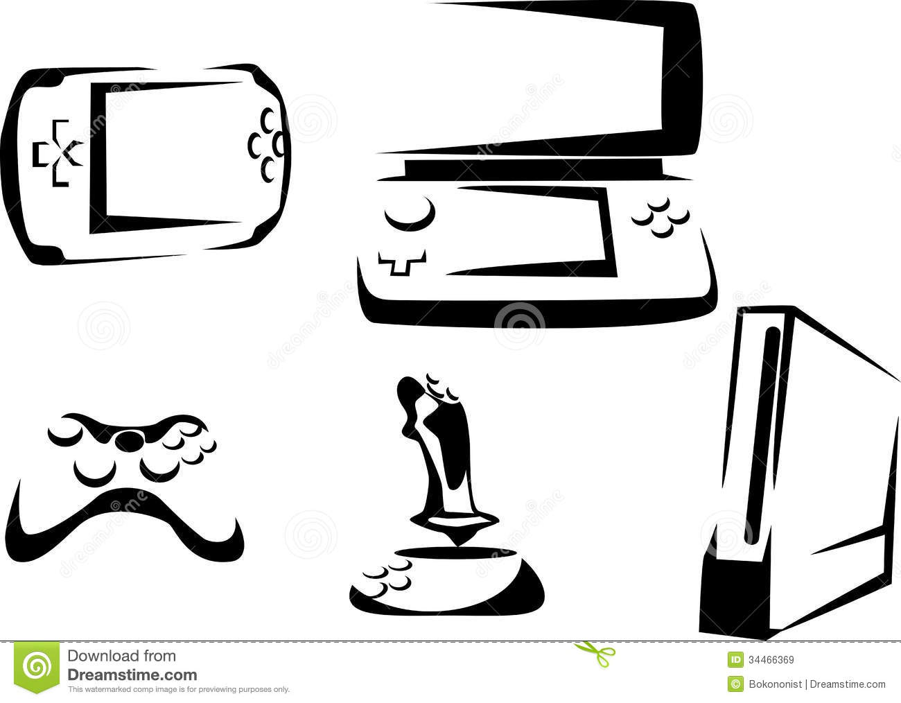 Console stock vector. Image of game, playstation