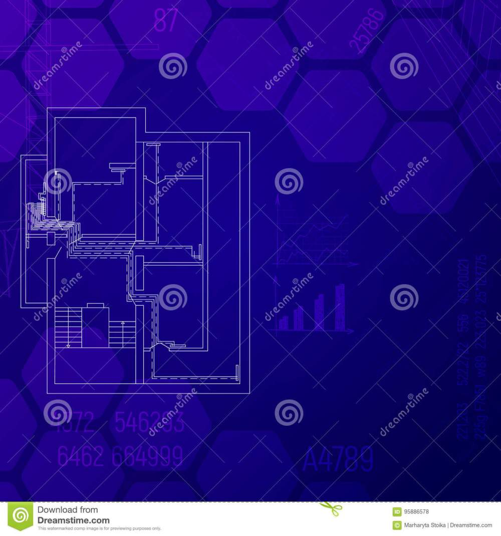 medium resolution of blue print with a heating system hvac engineering graphics cad