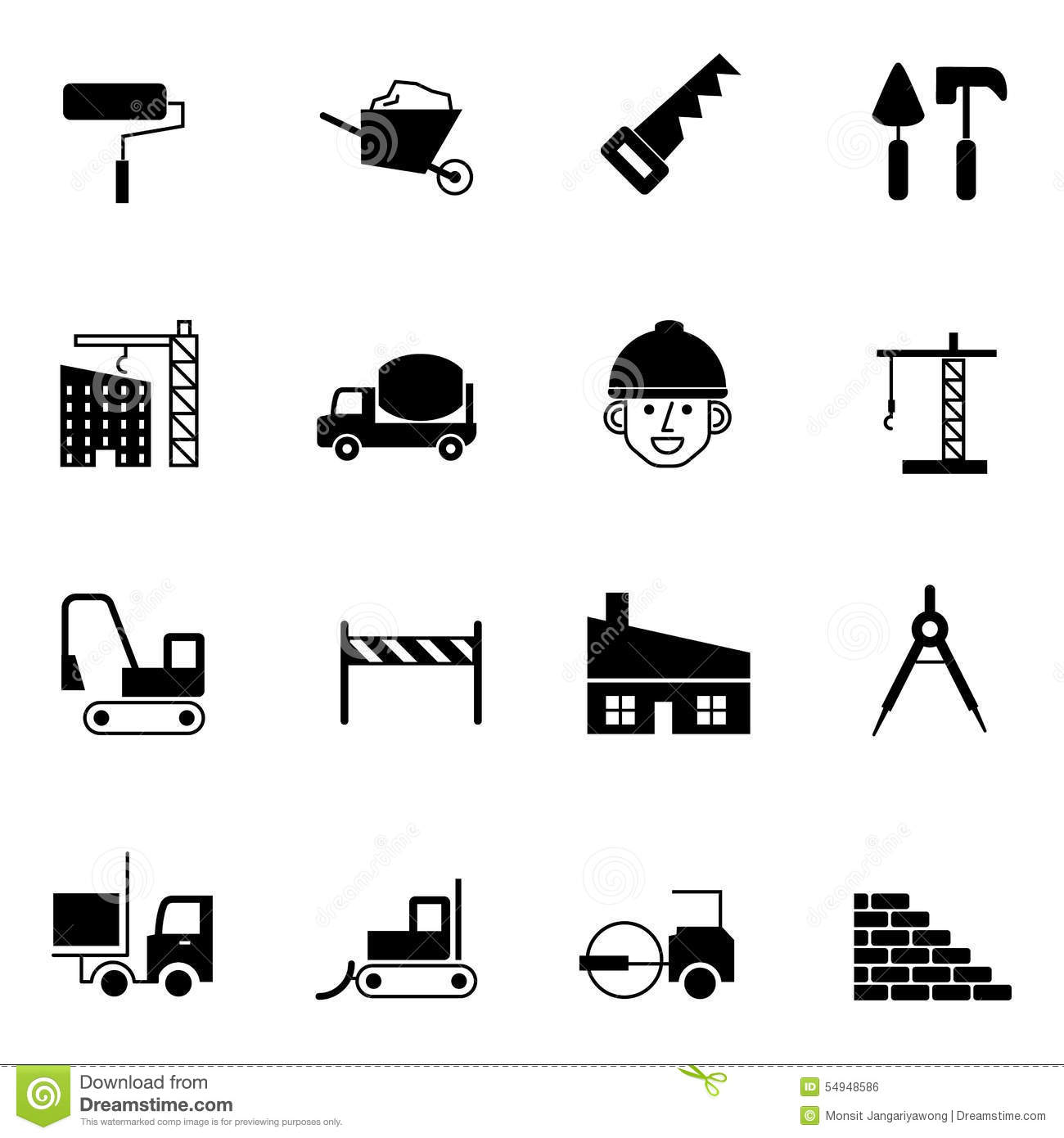 Construction And Engineer Icons Set Vector Illustration