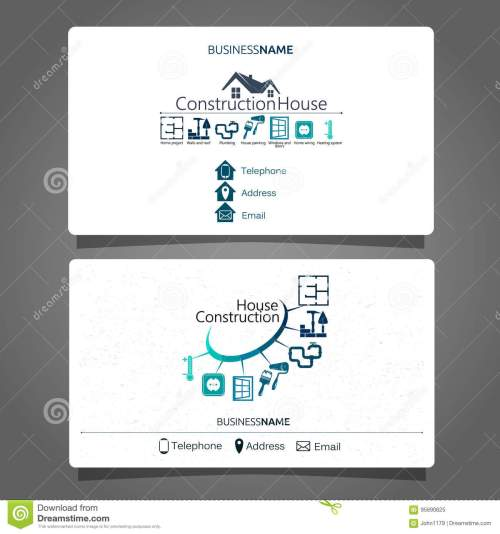 small resolution of construction and maintenance of the house business card