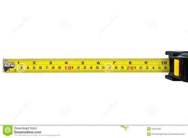 Construction Measuring Tape Isolated White Royalty Free