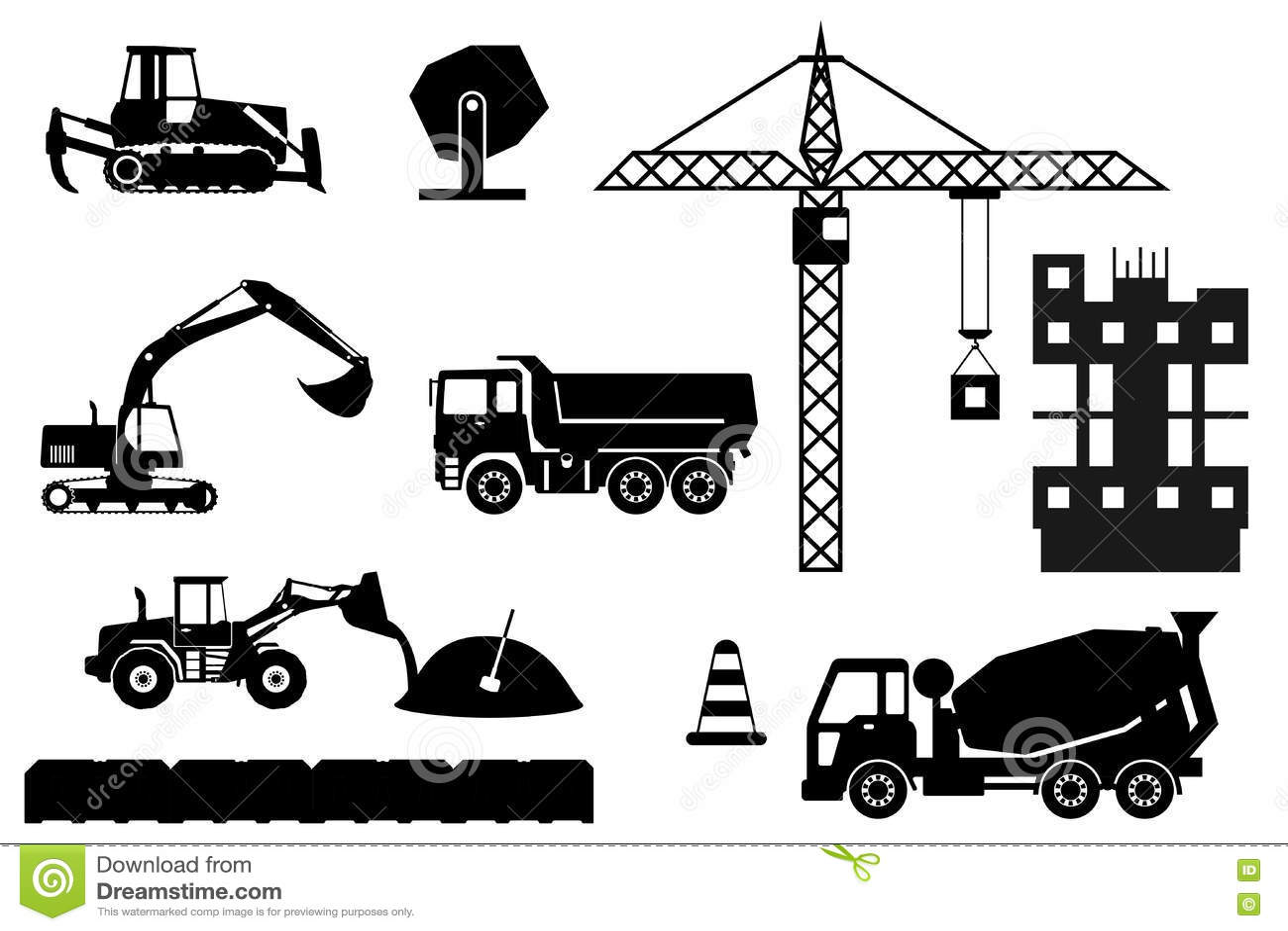 Construction Process Illustration Cartoon Vector