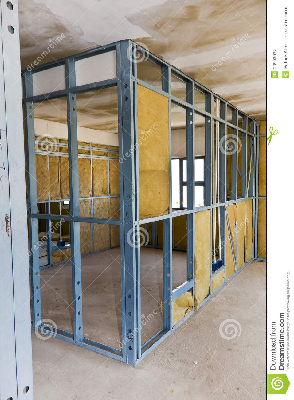 Construction Site  Drywall Stock Photo  Image of build concrete 23993032