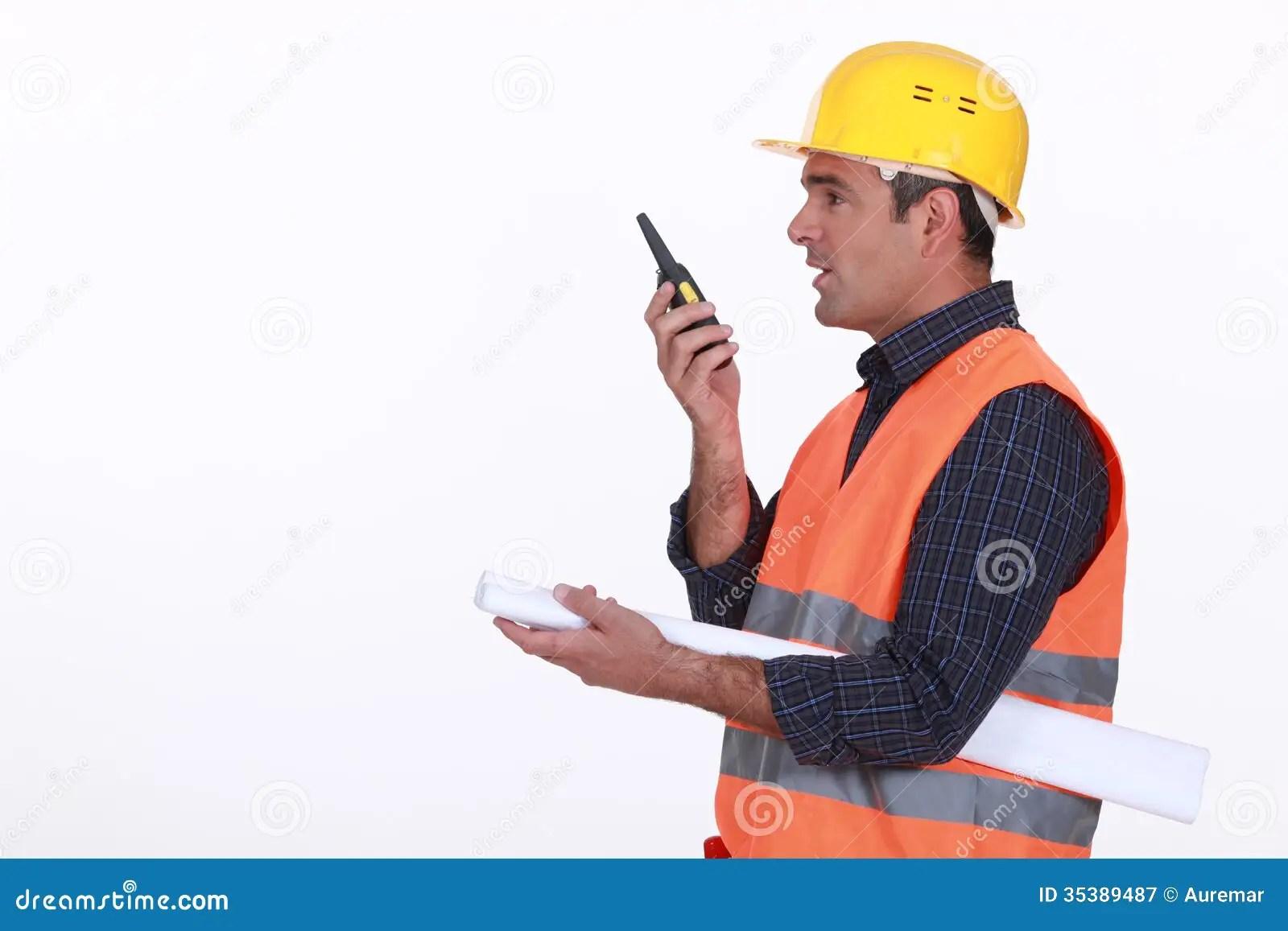 Construction Site Supervisor Stock Image  Image 35389487