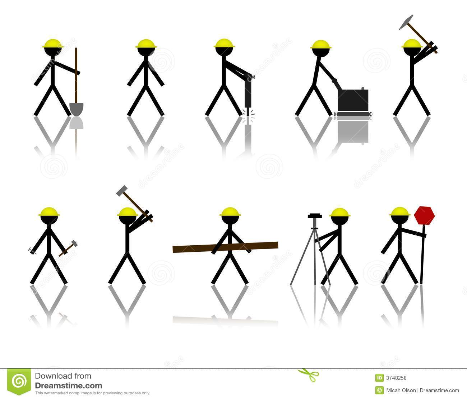 Construction Stick Figures Royalty Free Stock Photos