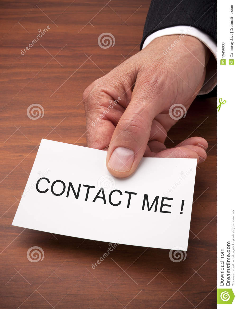 Contact Me Business Card Royalty Free Stock Image Image