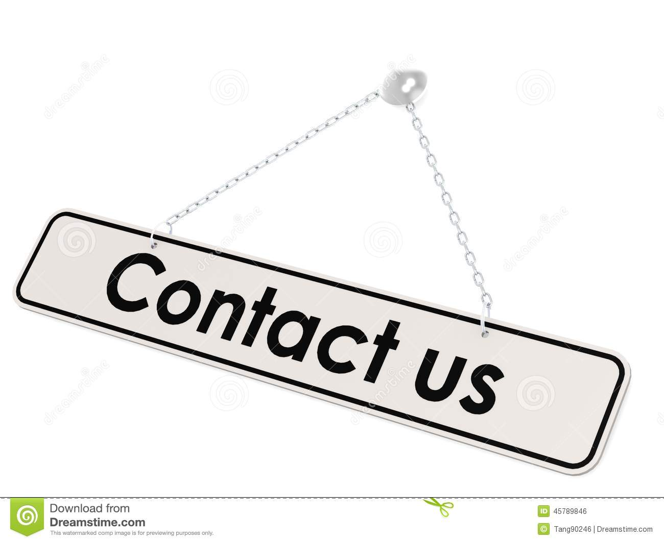 Contact Us Banner Stock Illustration