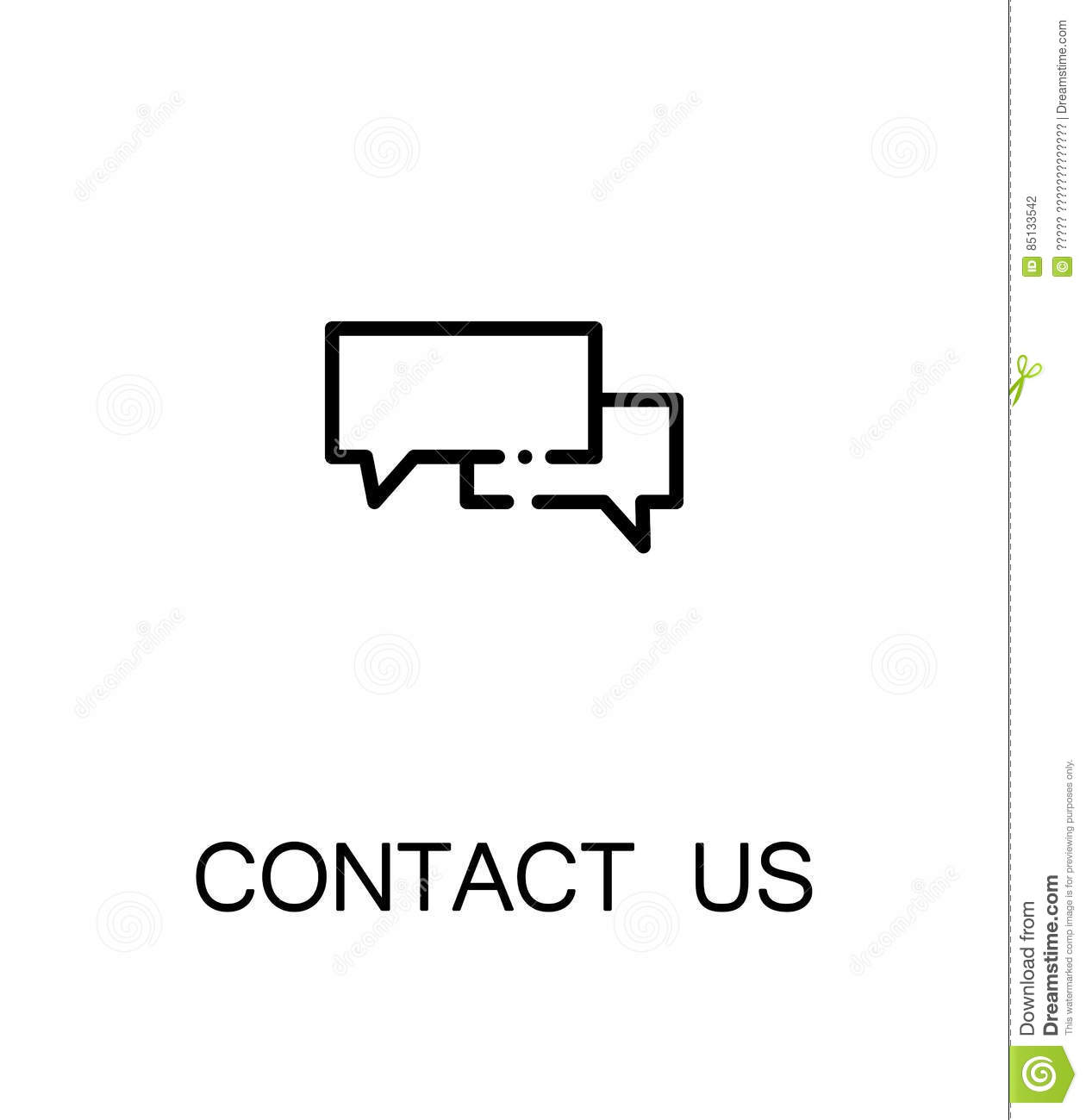 Contact Us Icon Stock Vector Illustration Of Information