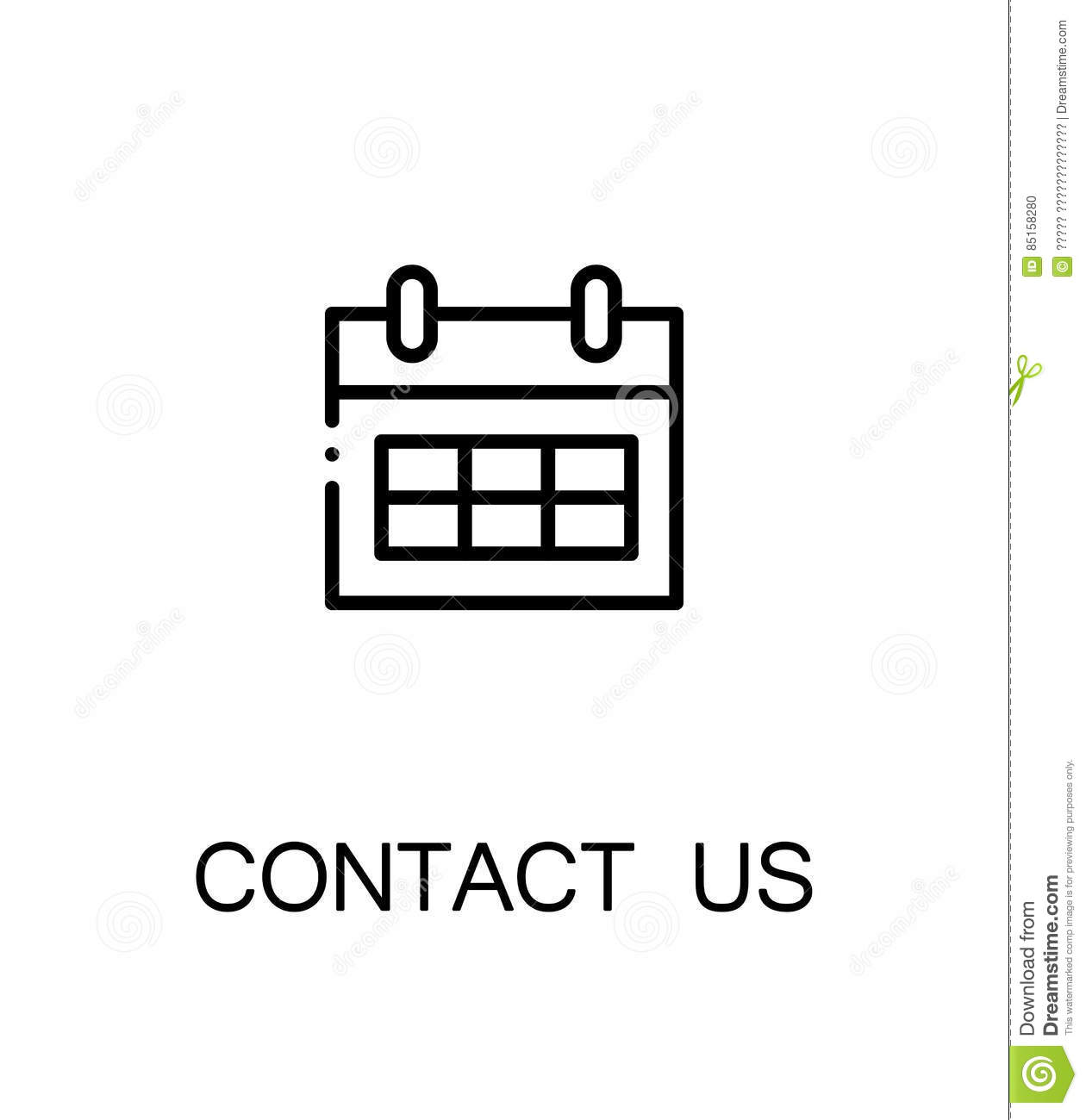 Contact Us Icon Stock Vector Illustration Of News Globe