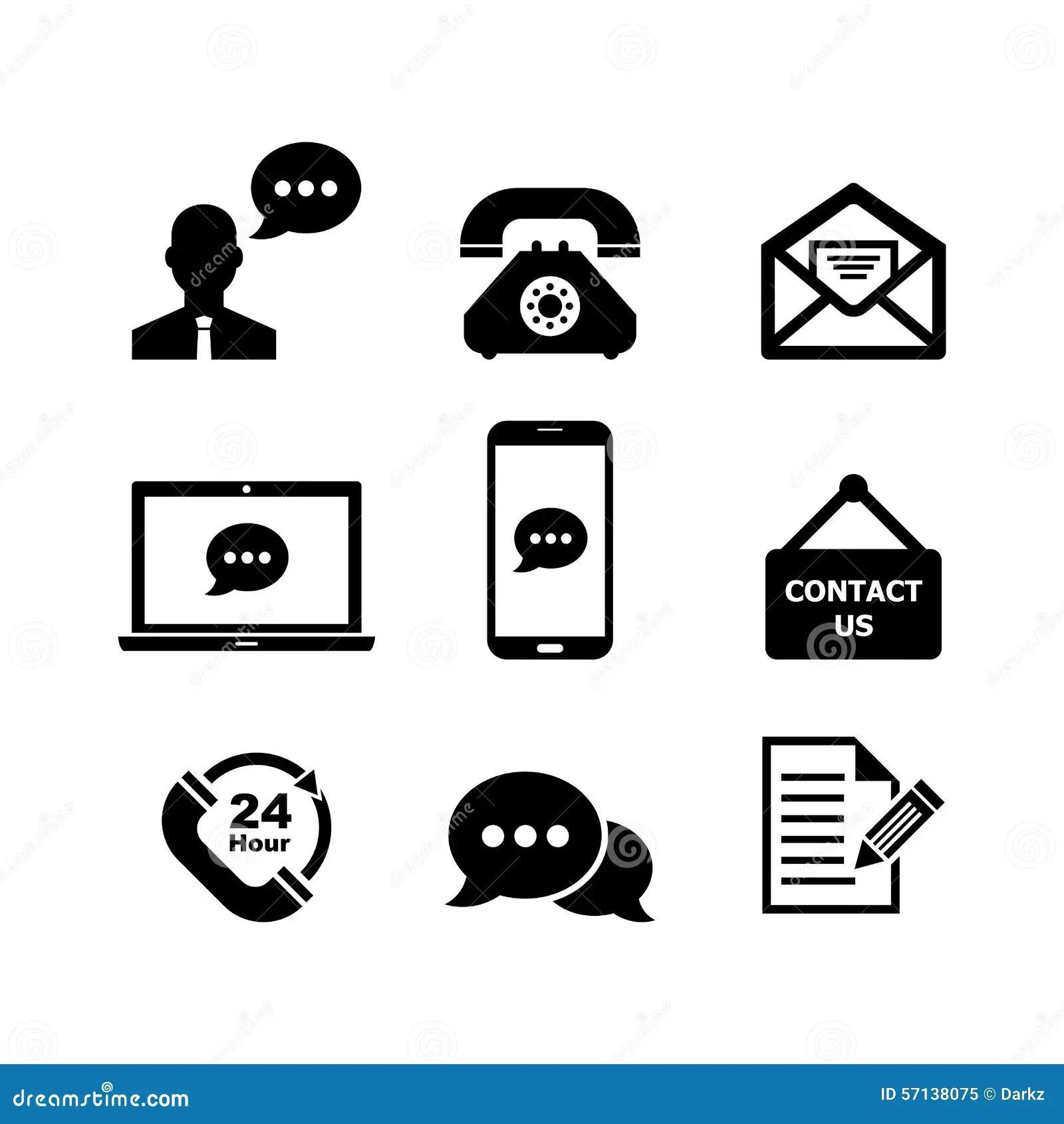 Contact Us Icon Stock Illustration Illustration Of Load