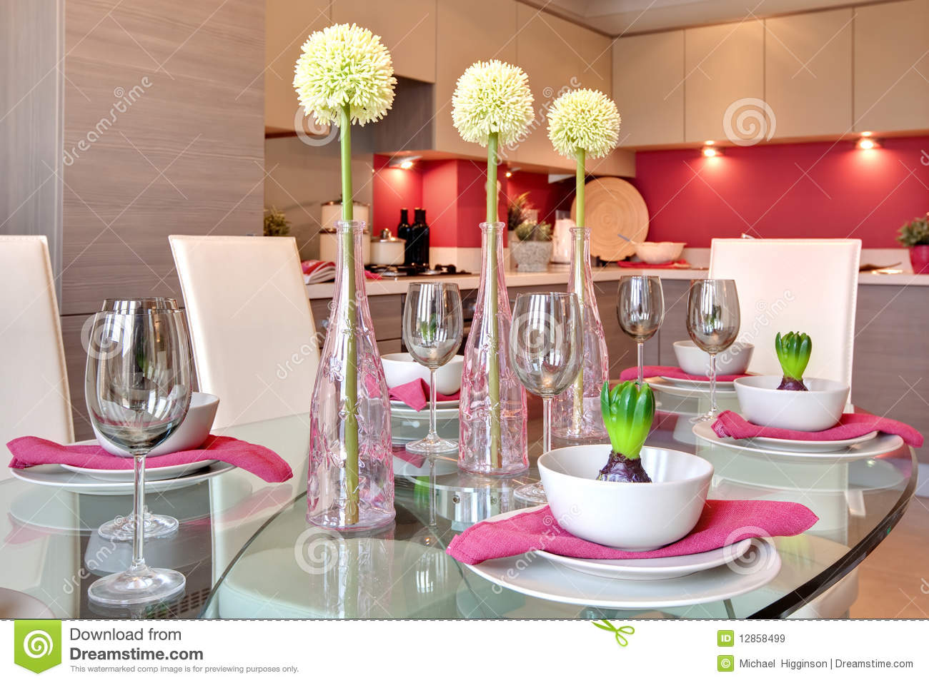 contemporary kitchen table rustic hardware dining set for dinner stock image ...