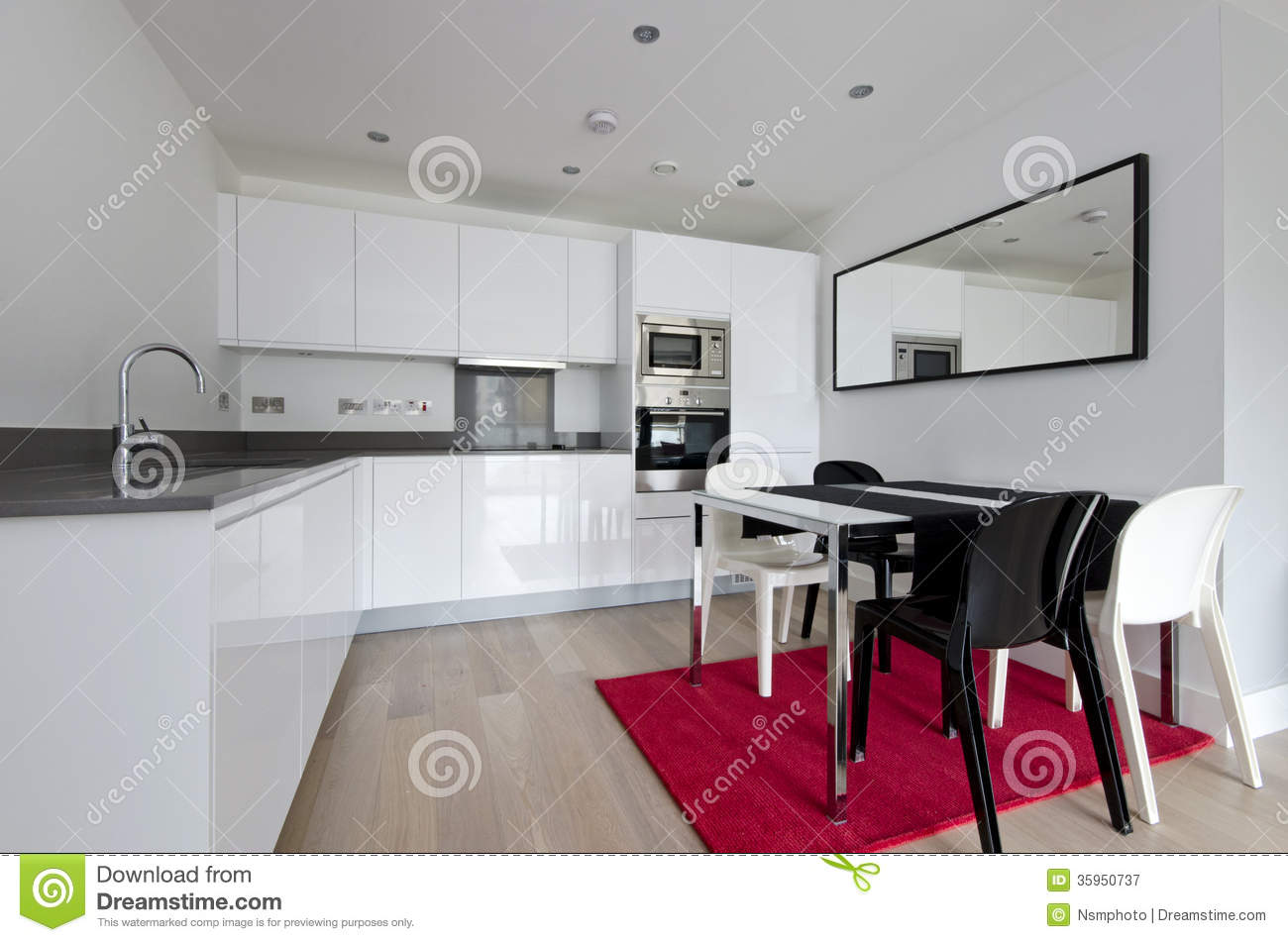 kitchen chairs modern small table and for uk contemporary fully fitted in white royalty free stock photography - image: 35950737