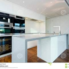 Modern Kitchen Appliances How To Build Your Own Cabinets Contemporary With Top Spec Stock Image