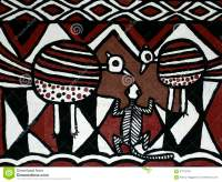 Contemporary Painting Of Traditional African Designs Stock ...